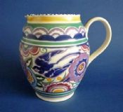 Large Poole Pottery HE Pattern 'Bluebird' Jug by Truda Carter c1935
